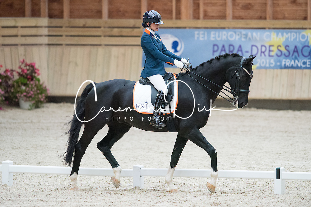 Van Der Horst Rixt, (NED), Uniek NOP<br /> Grade II Team Test<br /> Para-Dressage FEI European Championships Deauville 2015<br /> © Hippo Foto - Jon Stroud<br /> 18/09/15