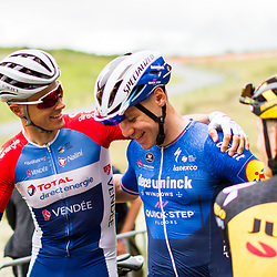 WIJSTER (NED) June 20: <br /> CYCLING <br /> Dutch Nationals Road Men up and around the Col du VAM<br /> Niki Terpstra, Fabio Jakobsen before the race