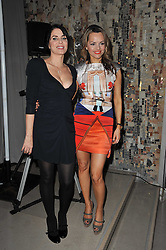 Left to right, SADIE FROST and MARIA HATZISTEFANIS at the 2nd Rodial Beautiful Awards in aid of the Hoping Foundation held at The Sanderson Hotel, 50 Berners Street, London on 1st February 2011.
