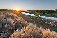 Sunset on the Missouri River nearJudith Landing, Upper Missouri Breaks National Monument Montana