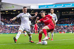 Callum O'Dowda of Bristol City and Ben White of Leeds United - Mandatory by-line: Daniel Chesterton/JMP - 15/02/2020 - FOOTBALL - Elland Road - Leeds, England - Leeds United v Bristol City - Sky Bet Championship