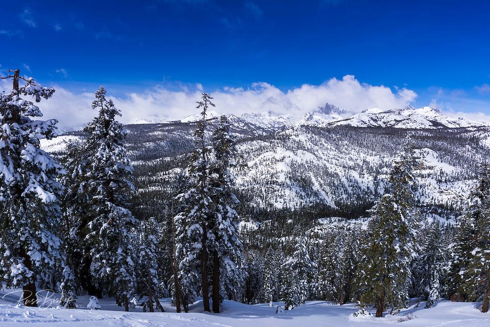 The Minarets after a winter storm, Ansel Adams Wilderness, Sierra Nevada Mountains, California USA