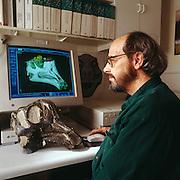 Paleontologist Jack Horner with Dinosaur Egg Nest from Montana.  Jack was much of the inspiration for Michael Crighton's Jurassic Park novel.