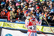 SHOT 12/4/15 11:35:14 AM - French skier Guillermo Fayed reacts after seeing his time in the finish area at the 2015 Audi Birds of Prey Downhill at Beaver Creek Ski Resort in Beaver Creek, Co. Birds of Prey is the only men's Audi FIS Ski World Cup stop in the United States. Fayed finished third with a time of 1:43.04. (Photo by Marc Piscotty / © 2015)