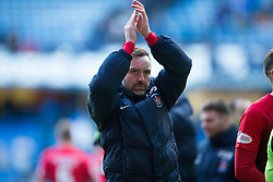 Kilmarnock's Kris Boyd salutes fans during the Ladbrokes Scottish Premiership match at Ibrox Stadium, Glasgow.