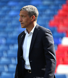 """Brighton & Hove Albion manager Chris Hughton prior to the Premier League match at Selhurst Park, London. PRESS ASSOCIATION Photo. Picture date: Saturday April 14, 2018. See PA story SOCCER Palace. Photo credit should read: Steven Paston/PA Wire. RESTRICTIONS: EDITORIAL USE ONLY No use with unauthorised audio, video, data, fixture lists, club/league logos or """"live"""" services. Online in-match use limited to 75 images, no video emulation. No use in betting, games or single club/league/player publications."""