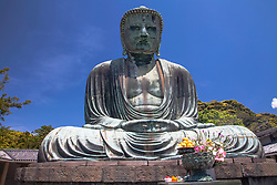 The Great Buddha of Kamakura (鎌倉大仏, Kamakura Daibutsu) is a bronze statue of Amida Buddha, which stands on the grounds of Kotokuin Temple. With a height of 40 feet tall, it is the second tallest bronze Buddha statue in Japan.