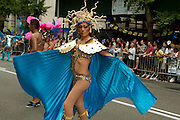Participant representing Gay Peruvians of the Americas in the 2011 Pride Parade in New York.