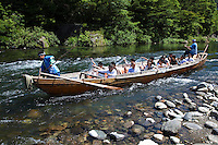"""Kinugawa River means Angry Demon River. Its originas are unclear, but the most likely explanation is that this comes from the raging waters, although the river is now dammed and considerably more placid.  So much so that rafting trips are available from Kinugawa Onsen with a spot of """"white water"""" along the way."""