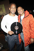 l to r: DJ Kool Herc(The God Father of Hiphop Music) and his sister Cynthia Cambell at ' Bring out the Sound System: The West Indian Roots of HipHop held at The Point on February 28, 2009 in the Bronx, NY..It is a known fact that the trinity of Hip Hop DJ pioneers have roots in the West Indies including DJ Kool Herc, Afrika Bambaataa, and Grandmaster Flash. Other early artists who made significant contributions to the music include Kool DJ Red Alert, KRS-One, Doug E. Fresh, among others.   ..Post World War II Bronx had a growing community of West Indian immigrants, particularly after the U.S. Immigration Act of 1965.  Recreation rooms at 1520 Sedgwick where Kool Herc deejayed and Bronx River Houses where Afrika Bambaataa held court as well as many local parks and early venues like the Black Door, where Grandmaster Flash rocked, mark the cradle of Hip Hop.