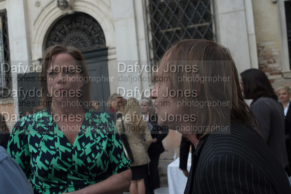 CURATORS; FLORA FAIRBAIRN, JAMES PUTNAM, opening of Paul Benney's ' Speaking in Tongues' church of San Galo, Venice Biennale, 10 May 2017