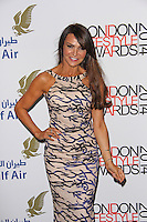 Lizzie Cundy, London Lifestyle Awards 2014, The Troxy, London UK, 08 October 2014, Photo By Brett D. Cove