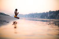 Yogi Amitram at the Ganga
