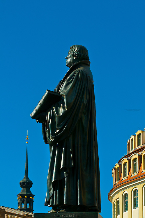 Statue of Martin Luther, Neumarkt, Dresden, Saxony, Germany