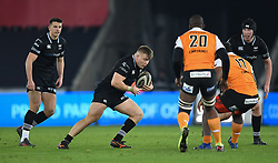 Ospreys' Ifan Phillips in action today<br /> <br /> Photographer Mike Jones/Replay Images<br /> <br /> Guinness PRO14 Round Round 16 - Ospreys v Cheetahs - Saturday 24th February 2018 - Liberty Stadium - Swansea<br /> <br /> World Copyright © Replay Images . All rights reserved. info@replayimages.co.uk - http://replayimages.co.uk