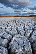 Cracked Alkali and Clouds, BLM Lands, Mono County, Caifornia