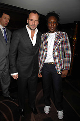 Left to right, TOM FORD and designer GAVIN DOUGLAS at the launch of the 4th Fashion Fringe - a search to recruit the hottest, undiscovered fashion desugn talent in the UK and Ireland, held at The Bar at The Dorchester, Park Lane, London on 13th March 2007.<br /><br />NON EXCLUSIVE - WORLD RIGHTS