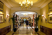 Interior of The Imperial Hotel with its luxury colonial elegance, New Delhi, India