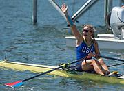 "Rio de Janeiro. BRAZIL.   Gevvie STONE, USA W1X Silver Medalist at the 2016 Olympic Rowing Regatta. Lagoa Stadium,<br /> Copacabana,  ""Olympic Summer Games""<br /> Rodrigo de Freitas Lagoon, Lagoa.   Saturday  13/08/2016 <br /> <br /> [Mandatory Credit; Peter SPURRIER/Intersport Images]"
