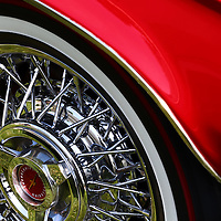 """""""Roll the Dice""""<br /> <br /> Take a spin in this cool detailed image from a red 1965 Thunderbird!!<br /> <br /> Cars and their Details by Rachel Cohen"""