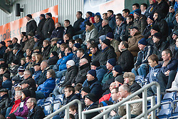 South stand.<br /> Falkirk 1 v 1 Livingston, Scottish Championship game today at The Falkirk Stadium.<br /> © Michael Schofield.