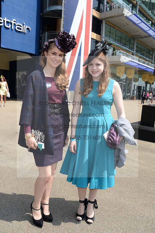 Left to right, ELECTRA NIARCHOS and INES NIARCHOS at the 2nd day of the 2013 Royal Ascot Horseracing festival at Ascot Racecourse, Ascot, Berkshire on 19th June 2013.