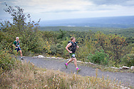 High Point, New Jersey - Runners at the start of the Shawangunk Ridge Trail Run/Hike 70-mile race at High Point State Park on Sept. 13, 2019.