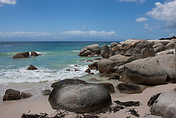 Rocks on the beach, Boulders Beach, Cape Town, Western Cape Province, South Africa