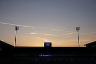 a General view of School End Stand as the sun sets on one of the hottest days of the year. EFL Skybet football league championship match, Queens Park Rangers v Newcastle Utd at Loftus Road Stadium in London on Tuesday 13th September 2016.<br /> pic by John Patrick Fletcher, Andrew Orchard sports photography.