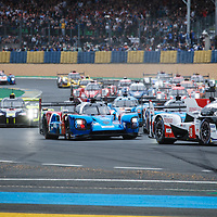 At the start of the race on 15/06/2019 at the Le Mans 24H 2019
