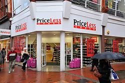 Priceless shoe shop sale Reading Jan 2009 UK