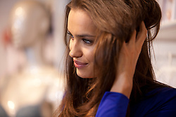 © Licensed to London News Pictures. 24/04/2012. London, U.K..Irina Shayk launches the Intimissimi Perfect Bra Collection at their Oxford Street store in London today 24th April. The 26-year-old Russian model will be modelling the Italian company's latest range campaign..Photo credit : Rich Bowen/LNP