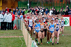 11-12-2011 ATLETIEK: EK 18 TH SPAR CROSS COUNTRY: VELENJE<br /> Adrienne Herzog of Netherland, Nadia Ejjafini and Valeria Straneo of Italy during the Senior Women's race during the 18th SPAR European Cross Country Championships Velenje 2011<br /> ©2011-FotoHoogendoorn.nl/Matic Klansek Velej