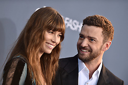 File photo dated December 11, 2016 of Jessica Biel, Justin Timberlake attend the 22nd Annual Critics' Choice Awards at Barker Hangar in Santa Monica, Los Angeles, CA, USA. According to DailyMail.com The 38-year-old actress and her husband Justin Timberlake, who already have 5-year-old son Silas together, are believed to have become parents for the second time, as Jessica reportedly gave birth to a baby boy earlier this week. Photo By Lionel Hahn/ABACAPRESS.COM