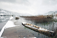 Lake Plav after October snowfall, Montenegro. the small town of Plav lies on the Peaks of the Balkans Trail © Rudolf Abraham