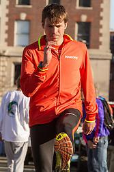 Boston Marathon: BAA 5K road race Ben True warmup
