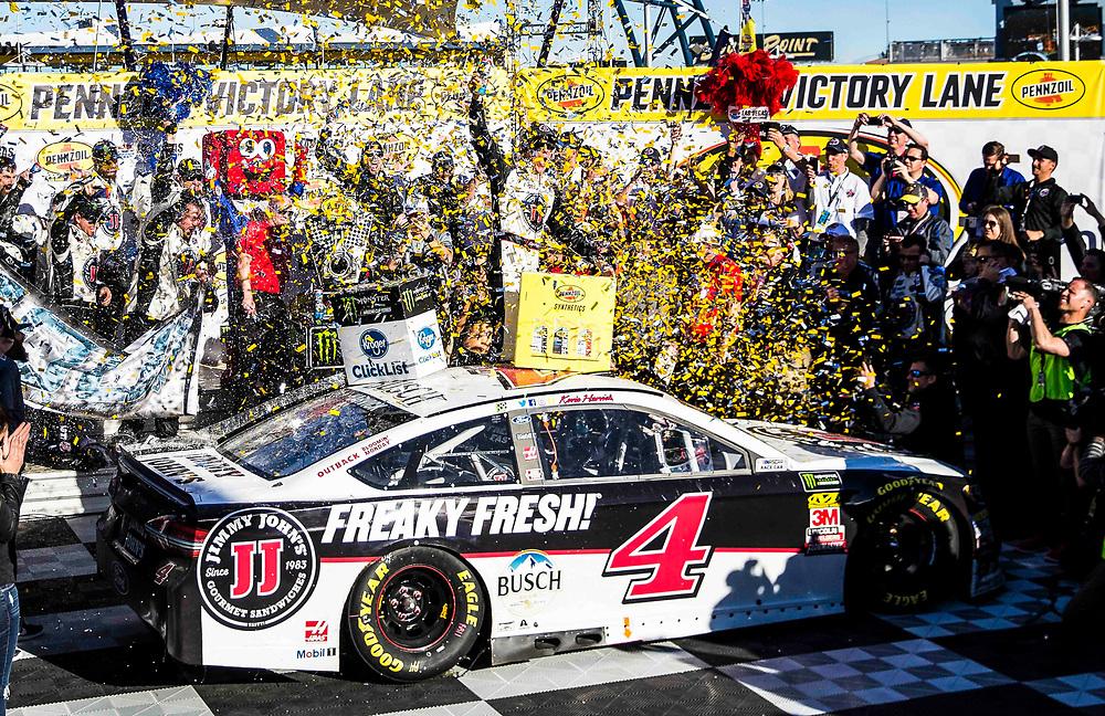 Mar 04, 2018  Las Vegas, NV, U.S.A. # 4 Kevin Harvick in victory lane after winning the Nascar Monster Energy series Pennzoil 400 at Las Vegas Motor Speedway Las Vegas, NV.  Thurman James