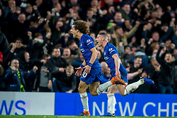 December 8, 2018 - London, Greater London, England - David Luiz of Chelsea celebrates scoring his goal to make it 2-0 during the Premier League match between Chelsea and Manchester City at Stamford Bridge, London, England on 8 December 2018. (Credit Image: © AFP7 via ZUMA Wire)