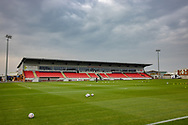 General view inside the SkyEx Community stadium during the The FA Cup match between Hayes and Yeading and Carlisle United at the SkyEx Community Stadium, hayes, United Kingdom on 8 November 2020.