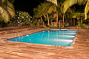 The pool at Octopus Resort on Waya Island. Waya is part of the Yasawa Islands, on the western side of Fiji.