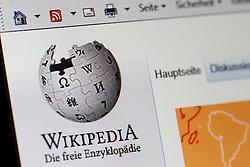 SYMOBLBILD - Startseite, Hauptseite, Internetseite von Wikipedia, Logo, Emblem, Marke, Signet, Markenzeichen, Themenbild, Featurebild, Bildschirmfoto, Monitorfoto // Home page, Homepage, website of Wikipedia, logo, emblem, brand, logo, trademark, theme image, feature image, screenshot, monitor Photo. EXPA Pictures © 2016, PhotoCredit: EXPA/ Eibner-Pressefoto/ Fleig<br /> <br /> *****ATTENTION - OUT of GER*****