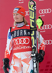 21.12.2010, Stade Emile Allais, Courchevel, FRA, FIS World Cup Ski Alpin, Ladies, Slalom, im Bild Tanja Poutiainen (FIN) 2nd place at the presentation ceremony of the FIS Alpine skiing World Cup ladies slalom race in Courchevel 1850, France. EXPA Pictures © 2010, PhotoCredit: EXPA/ M. Gunn
