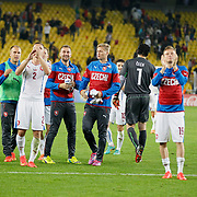 Czech Republic's players celebrate victory during their UEFA Euro 2016 qualification Group A soccer match Turkey betwen Czech Republic at Sukru Saracoglu stadium in Istanbul October 10, 2014. Photo by Aykut AKICI/TURKPIX