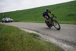 Lisa Brennauer (CANYON//SRAM) on the return leg at Omloop van Borsele Time Trial 2016. A 19.9 km individual time trial starting and finishing in 's-Heerenhoek, Netherlands on 22nd April 2016.