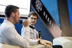 Goran Dragic and dr. Jure Leskovec during #gogitalk and SporTech Stars event, on June 18, 2019, in Ljubljana, Slovenia. Photo by Matic Klansek Velej / Sportida