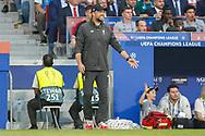 Liverpool Manager Jurgen Klopp during the UEFA Champions League Final match between Tottenham Hotspur and Liverpool at Wanda Metropolitano Stadium, Madrid, Spain on 1 June 2019.