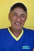 Portrait of a taxi driver in Fernando de Noronha island, Brazil.