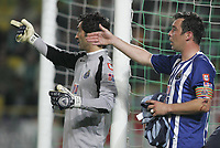 """LISBOA 21 MARCH 2005: # and # in the 26 leg of the Super Liga, season 2004/2005, match  Sporting CP (2) vs FC Porto (0), held in """"Alvalade XXI"""" stadium,  21/03/2005  22:01:08<br /> (PHOTO BY: NUNO ALEGRIA/AFCD)<br /> <br /> PORTUGAL OUT, PARTNER COUNTRY ONLY, ARCHIVE OUT, EDITORIAL USE ONLY, CREDIT LINE IS MANDATORY AFCD-PHOTO AGENCY 2004 © ALL RIGHTS RESERVED"""
