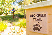 Trail Entrance Marker at Oso Creek Trail in Mission Viejo