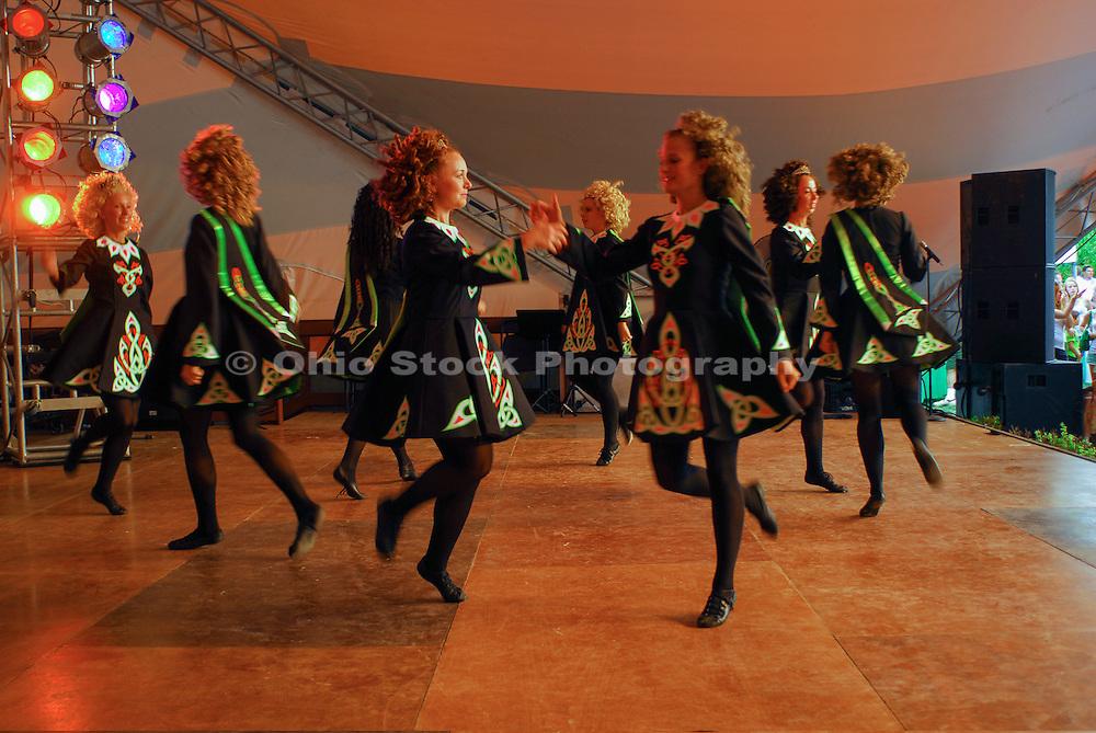 Photo of a group of Irish Dancers at the Dublin Irish Festival in Dublin, Ohio.
